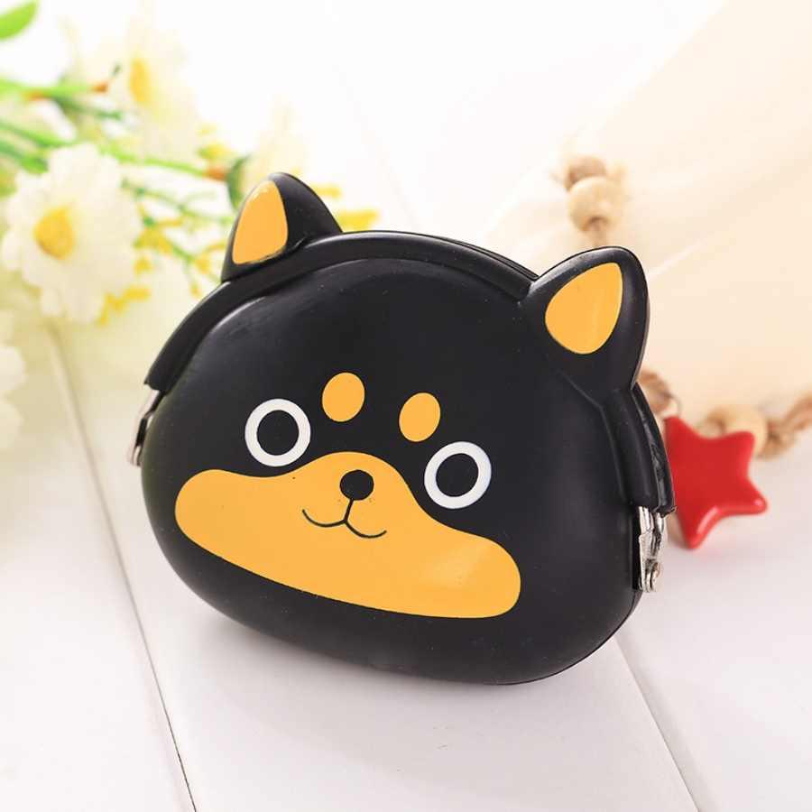 2019 nouvelles filles Mini Silicone porte-monnaie animaux petit changement portefeuille sac à main femmes porte-clés sac de monnaie pour enfants cadeaux # DD