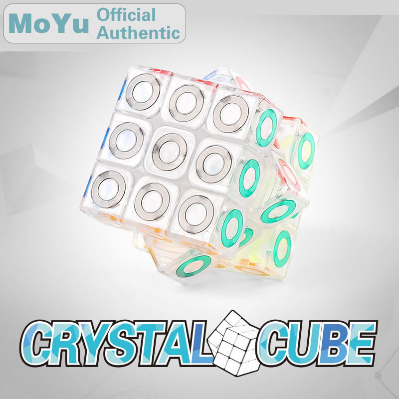 MoYu Crystal 3x3x3 Magic Cube Cubing Classroom 3x3 Brain Teaser Speed Puzzle Antistress Educational Toys For Children