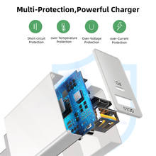 USLION 36W Quick Charge USB Charger PD QC 3.0 USB Type C Fast Charger For iPhone Xiaomi Portable Mobile Phone Charger Adapter