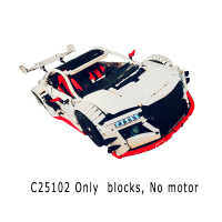 MOC 10858 Technic Series NSX Sports Car Motor Power Function Fit Technic Kits Building Blocks Bricks Toys For Children Xmas Gift