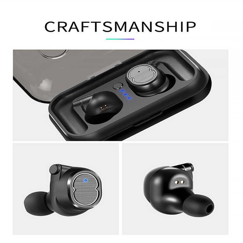 Tai nghe nhét tai Không Dây Bluetooth Tai Nghe TWS Bass Không Dây Tai Nghe IPX5 Chống Nước kèm Micro cho Samsung Xiaomi PK X8