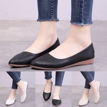 Fashion Women Pointed Toe Slip-On Shoes Solid Color Jobs Single Shoes Peas Shoes Sneakers Meddle Heel Pointed Toe Pump Air Mesh(China)