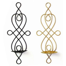 Candle-Holder Wall-Hanging Home-Decoration Sconces Pillar Dinning-Room Metal Wedding