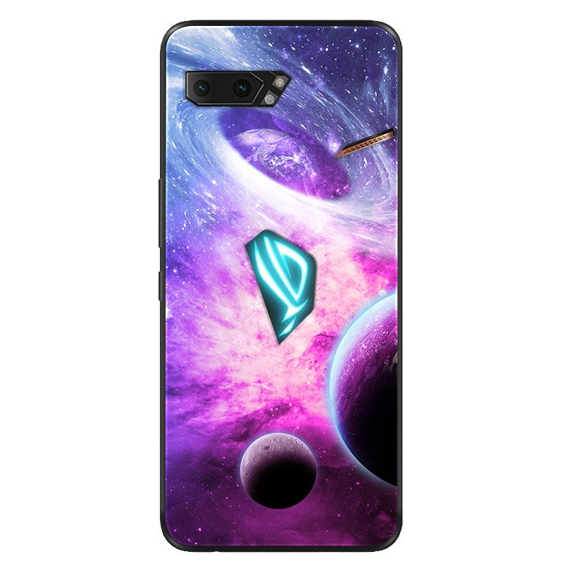 For Asus ROG Phone II Case Silicone Black Soft TPU Space Phone Cases For Asus ROG Phone 2 Case ZS660KL Phone2 Back Cover