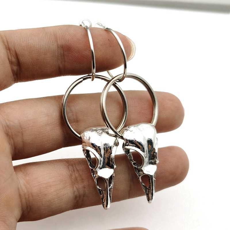 Mens Earrings Gothic Earring Crow Jewelry Bird Earring Stud Tiny Stud Earings Unique Earings Miniature Earrings