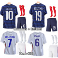 Team soccer Jersey France kids adult football 2020 2021 child boys and men clothing kit Jersey MBAPPE GRIEZMANN