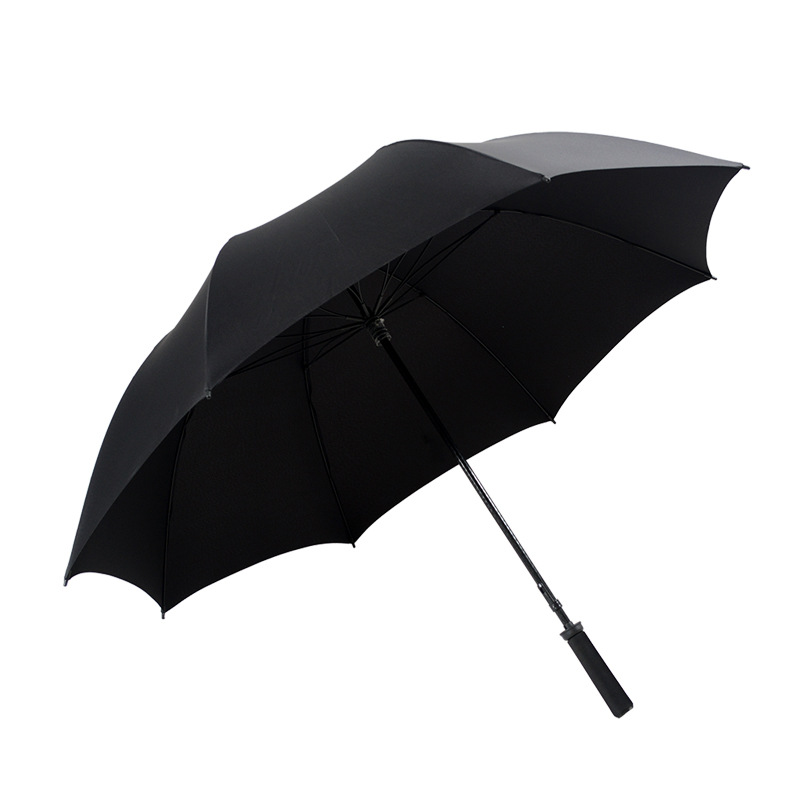 Golf Umbrella Straight Handle Wind-Resistant Reinforced Men All-Weather Umbrella Fiber Umbrella Bone Lotus Bone Shang Wu San All