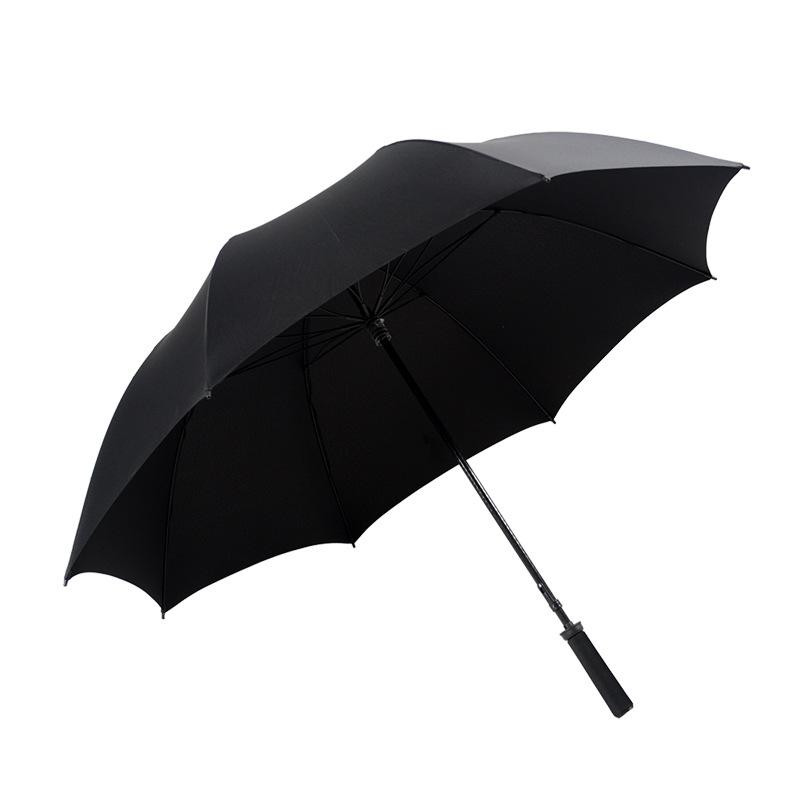 Golf Umbrella Straight Handle Wind-Resistant Reinforced Men All-Weather Umbrella Fiber Umbrella Bone Lotus Bone shang wu san All