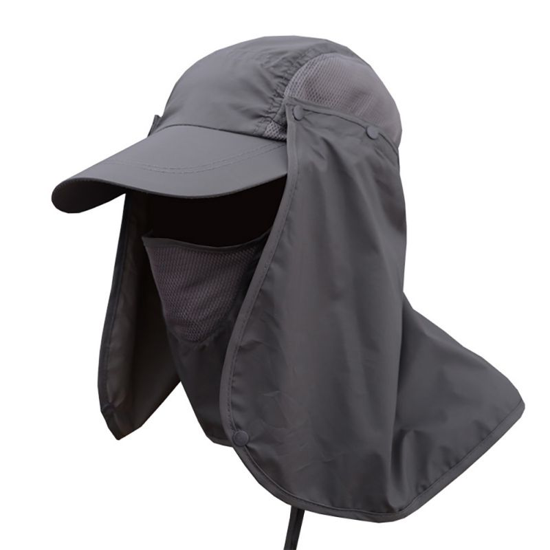 Unisex Casual Windbreak Hat UV Protection Face Neck Flap Man Full Cover Sunscreen Cap Sunhat