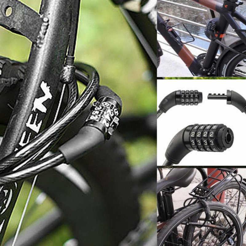 Password Bicycle Lock Black Travel Wire Bike Anti Theft Mini Security Hot