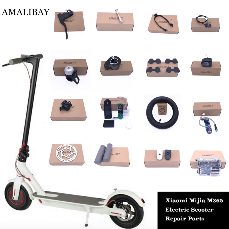 Electric Scooter Parts for Xiaomi M365 Scooter Fender Kickstand Light Dashboard Mainboard Disc Brakes for Xiaomi M365 Pro Part