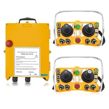 F24-60 industrial wireless universal radio remote control for overhead crane AC/DC 2transmitter and 1receiver 1pcs hs 6 ac dc24v 6 channels control hoist crane radio remote control sysem industrial remote control brand new