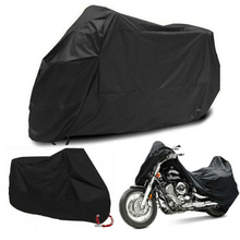 Full Black Motorcycle E-Bike Scooter Waterproof UV Dust Protector Rain Cover