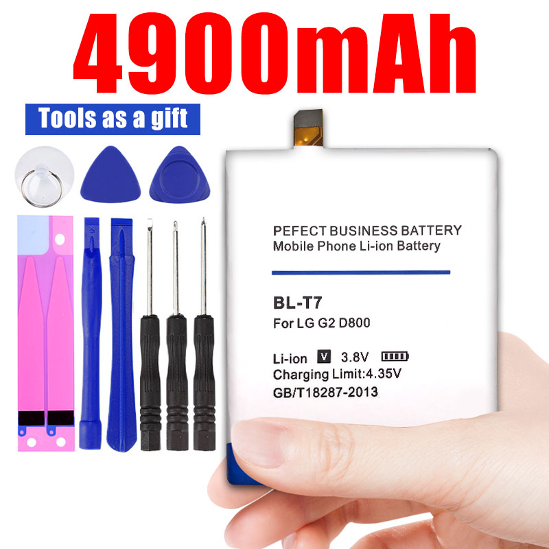 4900mAh <font><b>BL</b></font>-<font><b>T7</b></font> <font><b>BL</b></font> <font><b>T7</b></font> BLT7 Battery for <font><b>LG</b></font> Optimus G2 D800 D802 D801 L-01F LS980 P693 VS9801 VS980 LS980 image
