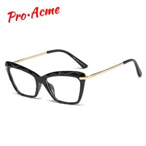Женские квадратные оправы для очков Pro Acme, модные брендовые сексуальные прозрачные очки кошачий глаз, оптическая компьютерная оправа для очков