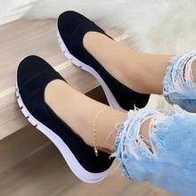 Women Canvas Shoes Ladies Spring Autumn Fashion 2021 New Slip On  Female Leisure Flat Shallow Plus Size Women's Sneakers New