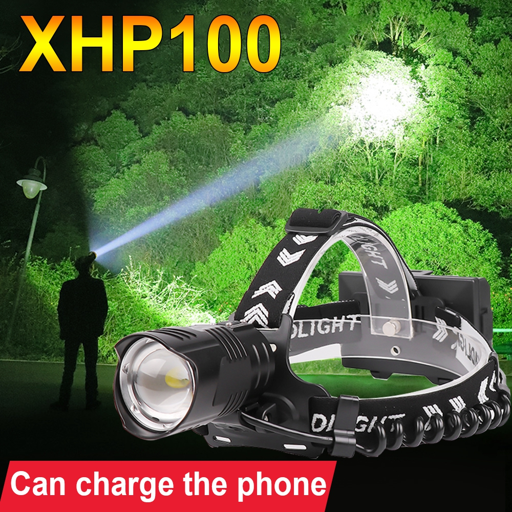 Super XHP100 Powerful Led Headlight 18650 Rechargeable Headlamp XHP90 2 Head Lamp Led Head Flashlight Torch Xhp70 2 Fishing Lamp