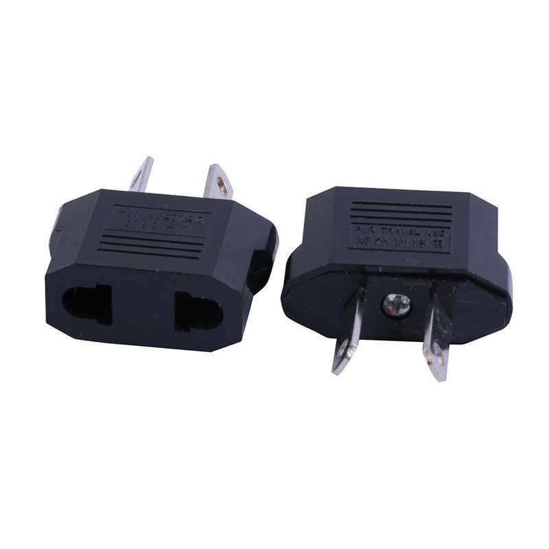 Zwart Us Eu Au Adapter Plug Australië Nieuw-zeeland 2Pin Polariteit Ac Elektrische Stekker Japan Amerikaanse Au converteren Plug 6A