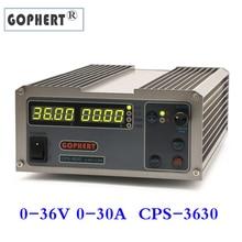 Fuente de alimentación CC ajustable CPS 3630 0 36V 0 30A, Fuente de alimentación de voltaje constante, MCU PFC, fuente de alimentación conmutada compacta para laboratorio