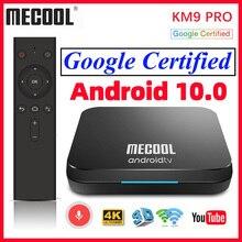 Androidtv certificado google da caixa 9.0 da tevê do andróide 4k km3 atv 4gb 128gb media player mecool km9 pro caixa esperta da tevê android 10 2gb 16gb