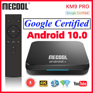 Image 1 - MECOOL KM9 פרו חכם טלוויזיה תיבת אנדרואיד 10 2GB 16GB Google מוסמך Androidtv אנדרואיד 9.0 טלוויזיה תיבת 4K KM3 טרקטורונים 4GB 128GB Media Player