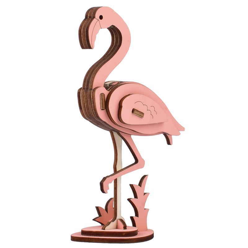 Набор для сборки «сделай сам», 3D деревянные игрушки, животные, модель фламинго, пазл, мини деревянные модели, игрушки для детей, аксессуары р...