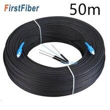 Câble de dérivation de Fiber optique FTTH SC UPC, 30m/50m, Fiber optique monomode Simplex pour l'extérieur