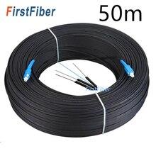 Ftth Glasvezel Drop Kabel Sc Upc 30M/50M Single Mode Simplex Outdoor Optical Fibre Optic Drop koord Fibra Optica