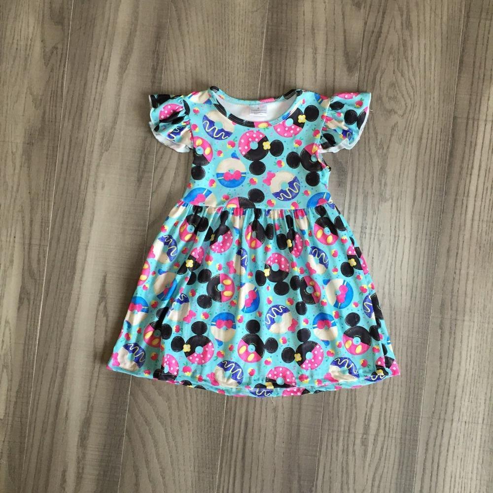 Baby Girls Summer Dress Kids Donut Dress Childrens Boutique Dress