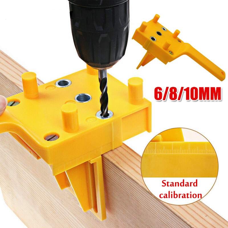 Abs Plastic Pocket Hole Handheld Drill Guide Jig With 6 8 10Mm Drill Bit Se