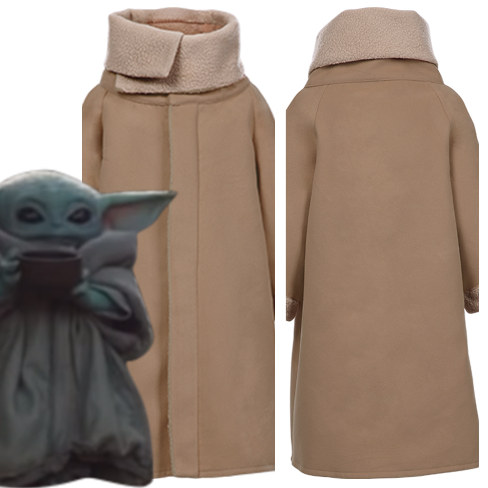 Kids Child Adult Star Cosplay Wars The Mandalorian Baby Yoda Cosplay Costume Fancy Dress Fleece Lined Coat For Little Boy Girls