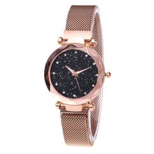 Fashion Shining Round Dial Luxury Woman Girls Wrist Watch Quartz Movement Water Resistant Casual Watch Steel Wristband mike water resistant silver resin glass dial steel alloy quartz analog wrist watch for men black