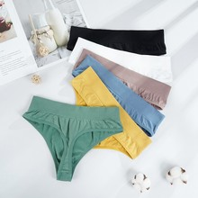 Sexy Thongs Panties Women G-String Female Underpants Seamless Comfortable Intimate Underwear Female High-Rise Thong Lingerie cheap ECMLN Nylon CN(Origin) I-A4219-XTT Solid none