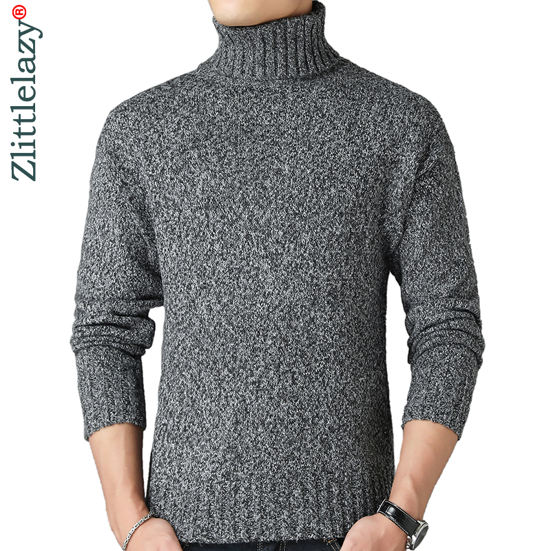 2019 New Thick Warm Winter Turtleneck Knitted Pull Sweater Men Wear Jersey Dress Pullover Knit Mens Sweaters Male Fashions 02198