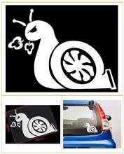 цена на Fashion Angry Snail Turbo JDM for Auto Window Car Body Truck Decal Animals Cartoon Sticker 2 Color