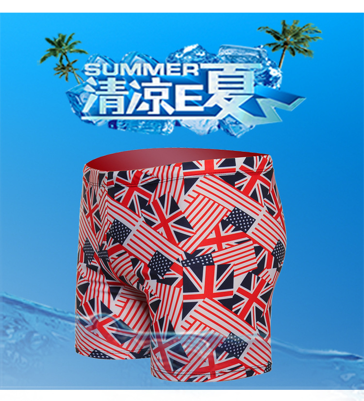 Swimming Trunks Men's Short Loose And Plus-sized Anti-Awkward Boxer Plus-sized Adult Hot Springs Industry Beach Swimming Equipme