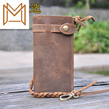 Man Wallet Genuine Leather Wallet Mix Business Affairs Hand Package Hand Package Long Mad Horsehide