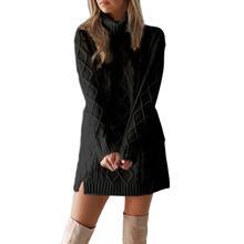 Сексуальный вязаный свитер зимняя трикотажная одежда для повседневной