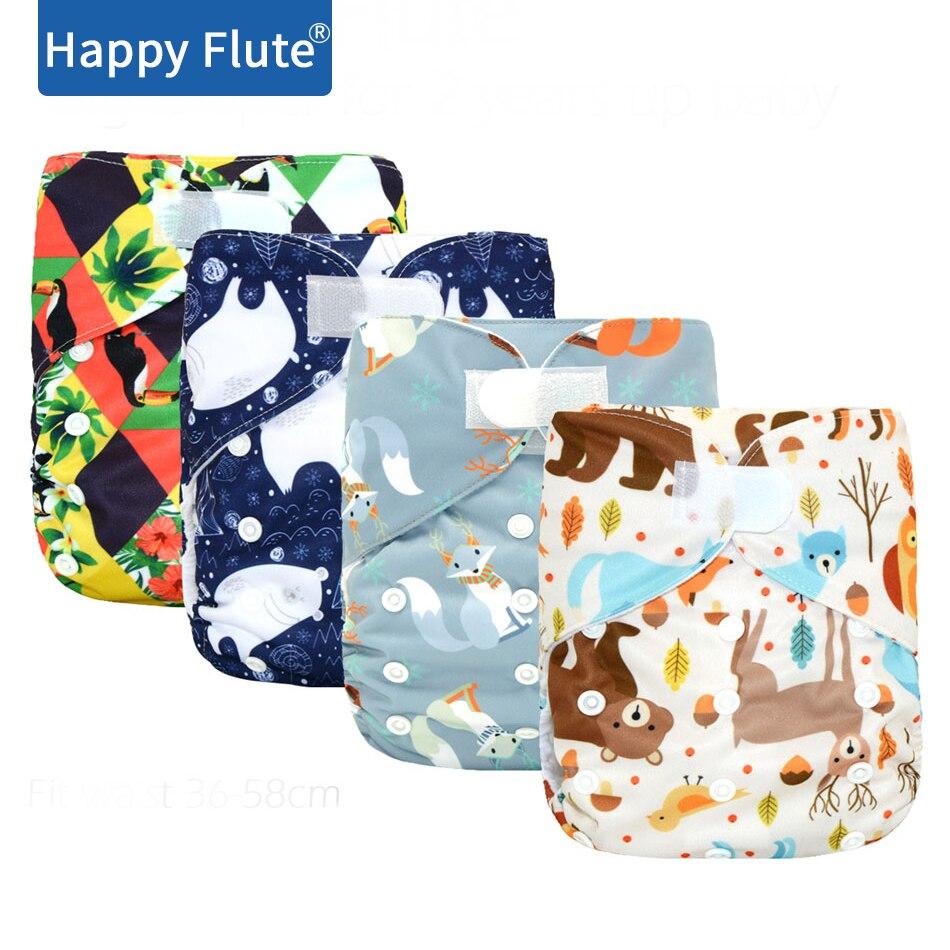 Новинка! HappyFlute Большой карманный подгузник XL для детей 2 лет и старше, замшевый внутренний, сохраняющий сухость, регулируемый размер, подход...