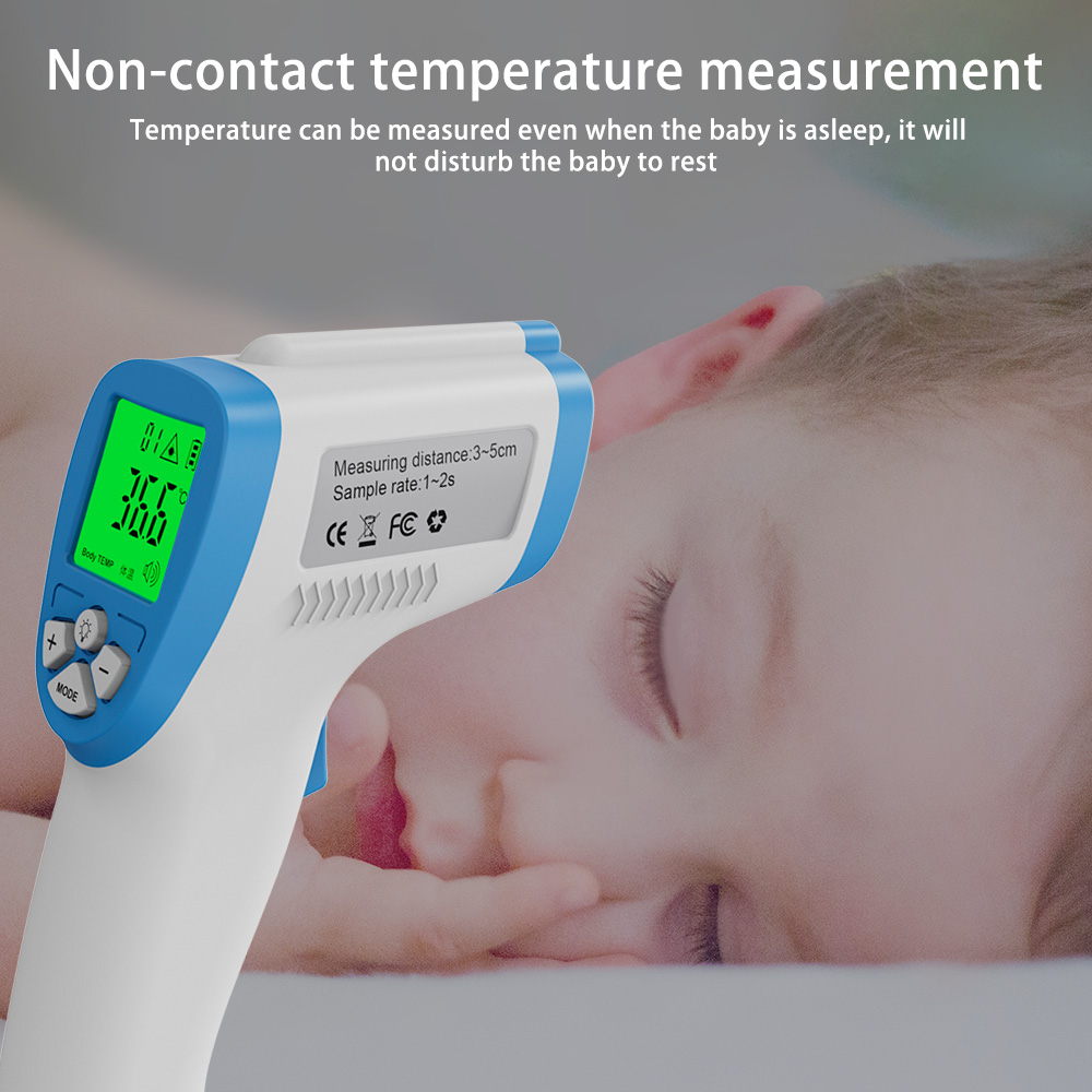 Bezdotykowy cyfrowy termometr na podczerwień LCD czoło ręczny termometr na ucho dla dziecka dorosły pomiar temperatury dziecka