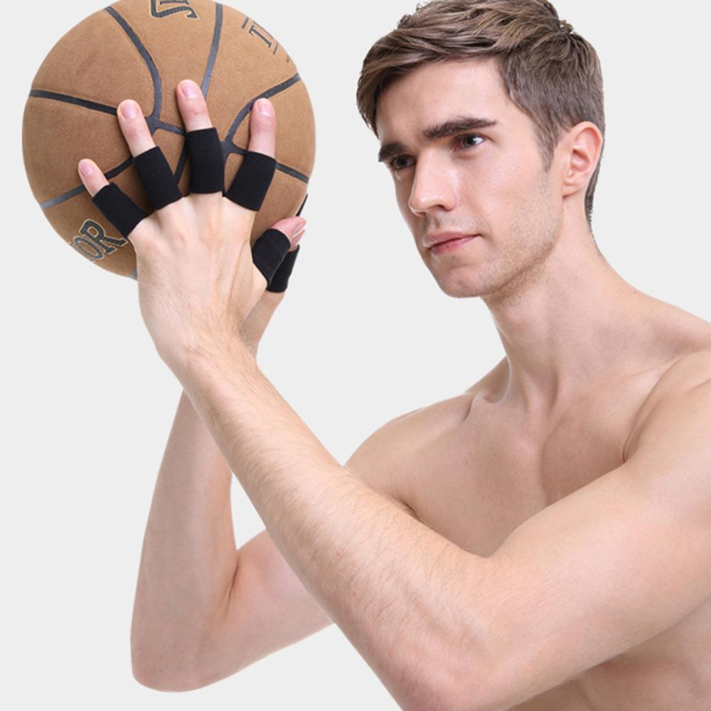 10pcs Sport Finger Protector Bracket Guard Guard Splint Finger Bands Stretchy Sports Band Aid Basketball