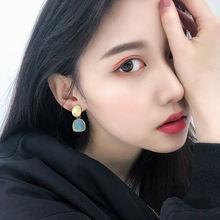 2020 корейские новые геометрические Висячие серьги для женщин