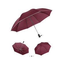 Automatische Paraplu Reverse Vouwen Business Paraplu Reflecterende Strips Auto Winddicht Regenkleding Zaken Paraplu