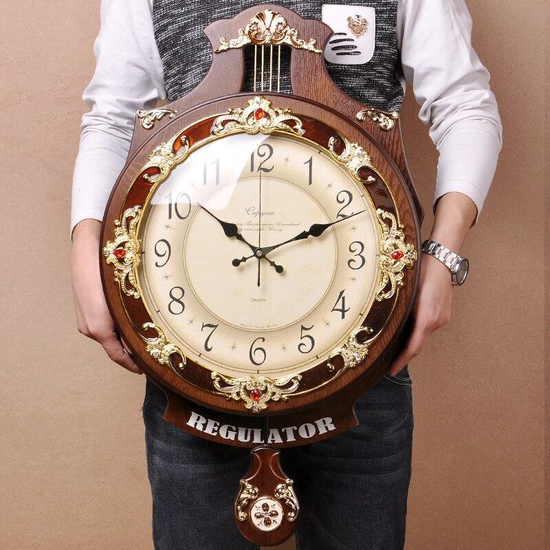 Reloj de pared europeo Vintage, reloj de pared artístico, reloj de pared de madera con gran personalidad, reloj de péndulo moderno creativo silencioso, 50WC066 NAVIFORCE, relojes de cuarzo de lujo para hombres, relojes para mujeres de acero a prueba de agua, reloj informal para parejas, reloj de pulsera Masculino, reloj Masculino