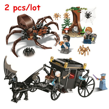 2pcs Potter Aragog's Lair + Grindelwald's Escape Building Blocks Kits Bricks Classic Movie Model Kids Toys For Children Gift image