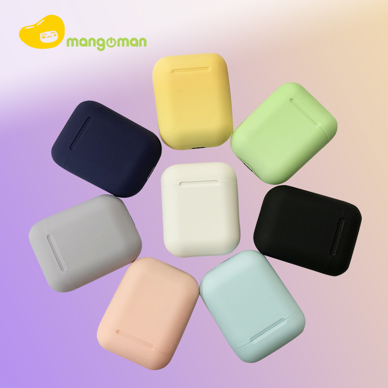 Mangoman <font><b>Bluetooth</b></font> <font><b>5.0</b></font> <font><b>Earphone</b></font> InPods 12 <font><b>TWS</b></font> HIFI Stereo Sport <font><b>Mini</b></font> <font><b>Wireless</b></font> Earbuds Headset Mic For All <font><b>Smart</b></font> Phone Pk i7s <font><b>i12</b></font> image