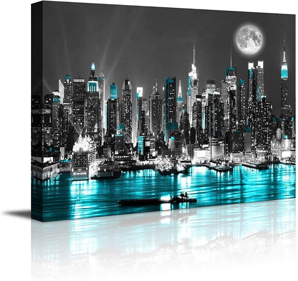 30X90cm Aolala 5D Diamond Painting Diamante Bricolaje Grande Pintura Diamante Enfriamiento de Nueva York Imagen de Diamante de Imitaci/ón Abstracto Moderno Patr/ón Mosaico Decor