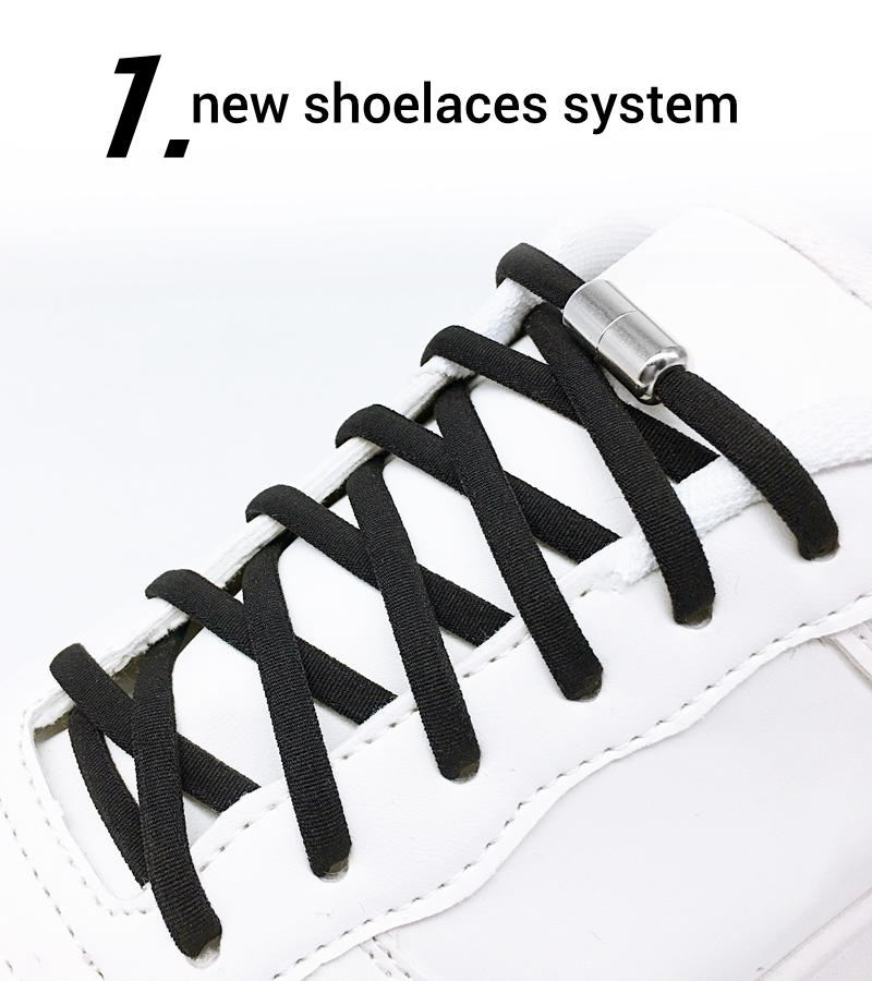 Kids Adult Lazy No Tie Elastic Shoelaces Metal Capsule Button Sneakers