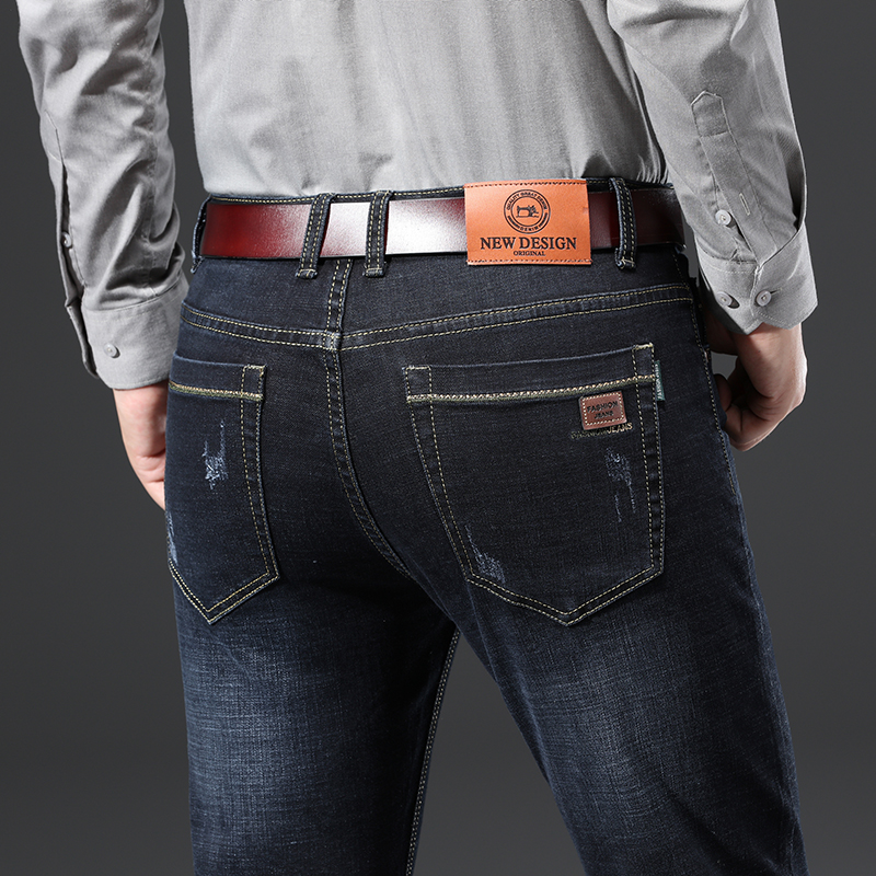 H779c9fe24a344c3595584ba2e25bcbe79 - 2020 New Design Jeans Mens Pants Cotton Deniem Classic Trousers Casual Stretch Slim High Quality Black Blue Multiple Styles