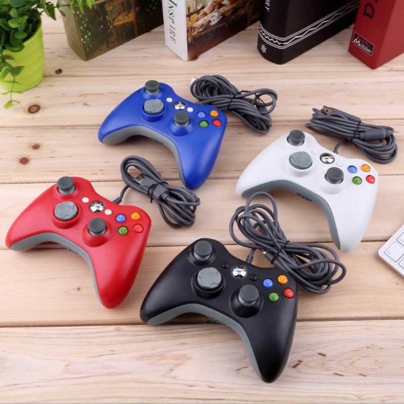 USB Kablolu Gamepad Xbox 360/Slim Denetleyici Windows 7/8/10 Microsoft PC Denetleyici Controle kablolu Destek Takım Oyunları Için